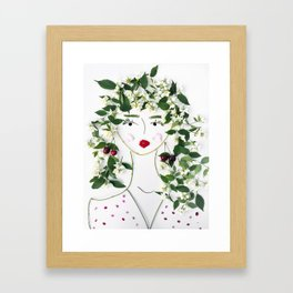 Mimi, the kindly devoted floral lady Framed Art Print