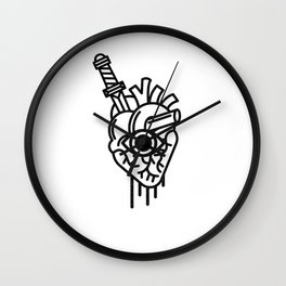 WOUNDED LOVER Wall Clock