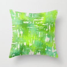 Mystic Cloud 9: Lime  Throw Pillow