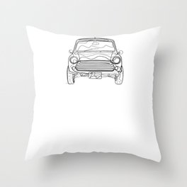 Auto Oldtimer - One Line Drawing Throw Pillow