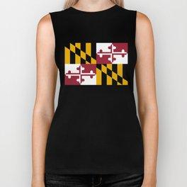 Maryland State Flag, Hi Def image Biker Tank