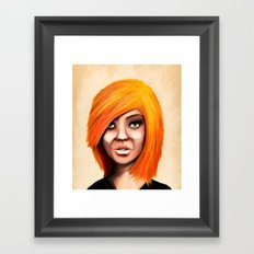 Blonde Framed Art Print