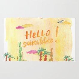 Hello Sunshine Exotic Landscape Rug