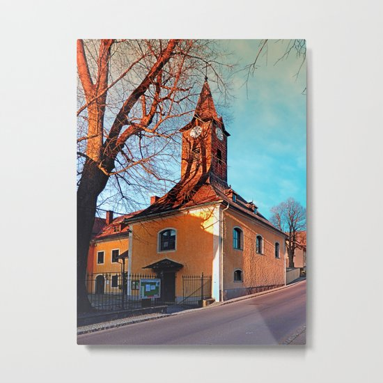 The village church of Waxenberg Metal Print