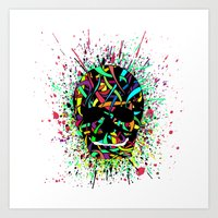 COLOUR SKULL  Art Print