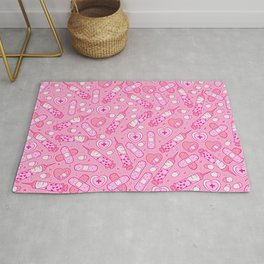 Kawaii Menhera on Pink Rug
