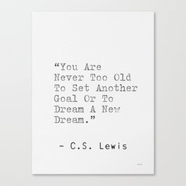 C.S. Lewis uplifting quote Canvas Print