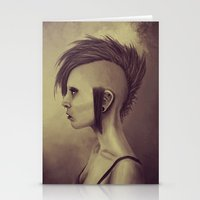 punk Stationery Cards featuring Punk by quintao