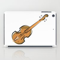 violin iPad Cases featuring Violin by shopaholic chick