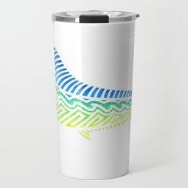 Tribal Mahi Mahi Travel Mug