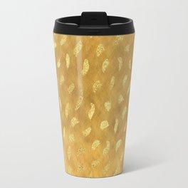 Pretty Gold Glam Abstract Travel Mug