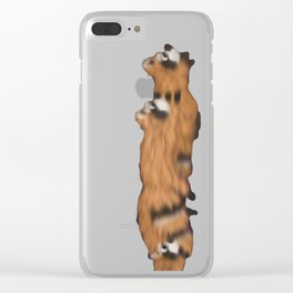 Raccoon Series: Out on the Town Clear iPhone Case