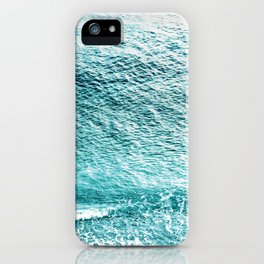 CLEAR BLUE SEA in Greece iPhone Case