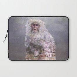 Snow monkey dreams Laptop Sleeve