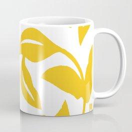 PALM LEAF VINE LEAF YELLOW PATTERN Coffee Mug