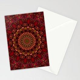 Bohemian Geometric Flower Mandala Stationery Cards