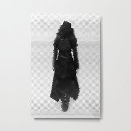 girl in shapes Metal Print