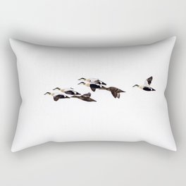 Flock of Eider Ducks Rectangular Pillow