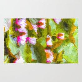 Water Lilys Art Rug