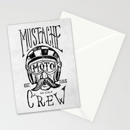 Mustache Moto Crew Stationery Cards