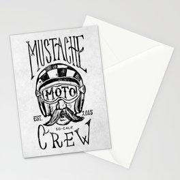 Mustache Moto Crew Stationery Cards