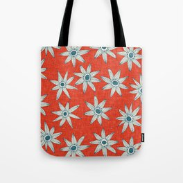 sema fire orange blue Tote Bag