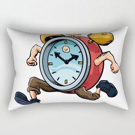 Clock Man Running Rectangular Pillow