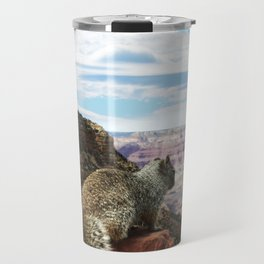 Squirrel Overlooking Grand Canyon Travel Mug