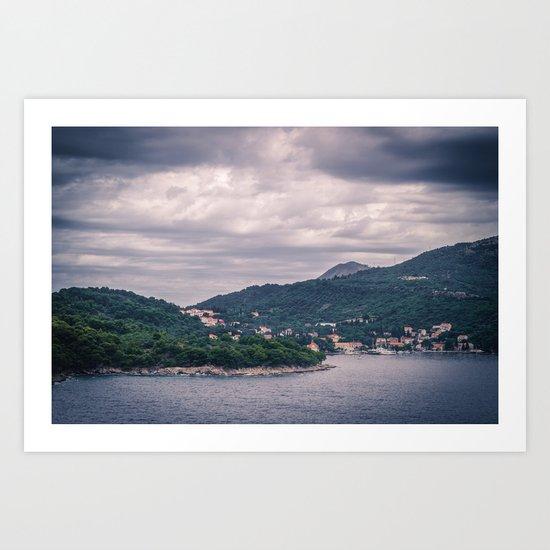 Dubrovnik Landscape Art Print
