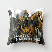 transformers Throw Pillows featuring Transformers by giftstore2u