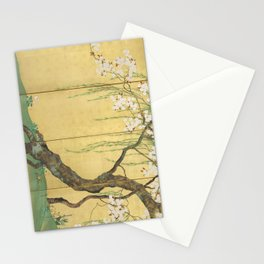 Cherry, Maple and Budding Willow Tree Stationery Cards