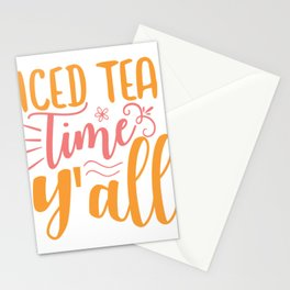 Iced tea time y'all - Adventure Design Stationery Cards
