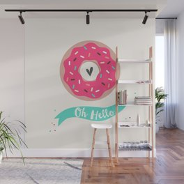 Oh hello Donut Wall Mural