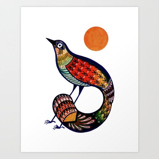 Sun Bird Art Print