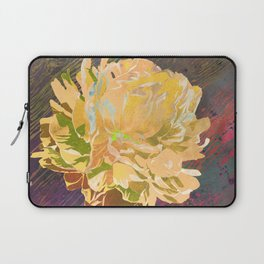 Single Yellow Peony in a Ball Canning Jar Laptop Sleeve