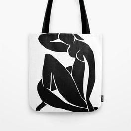 Matisse Cut Out Figure #2 Black Tote Bag