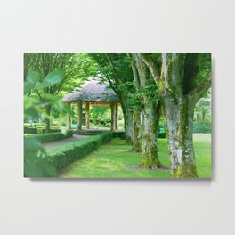 Green Gazebo Metal Print