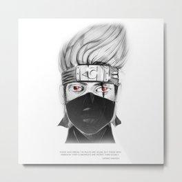 Hatake Kakashi - of the sharingan Metal Print