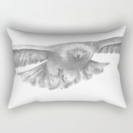 Golden eagle in flight, Aquila Chrysaetos Rectangular Pillow