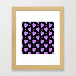 Planchette Pattern on Black Framed Art Print