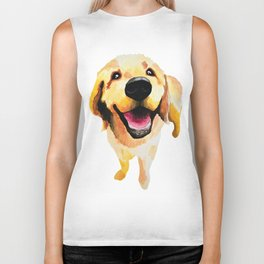 Good Boy / Yellow Labrador Retriever dog art Biker Tank