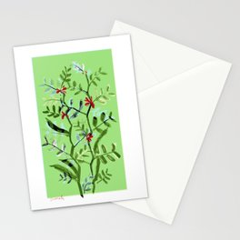 Crimson Favas Stationery Cards