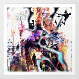 The world walker Art Print