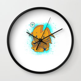 Baby Cheese with Light Saber Wall Clock