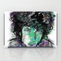bob dylan iPad Cases featuring Bob Dylan by Irmak Akcadogan