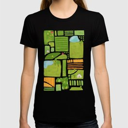 Bird's Eye View of the Countryside T-shirt