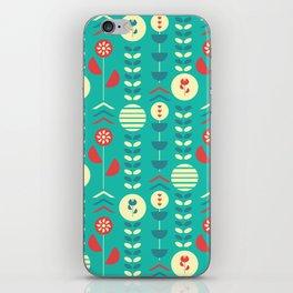 Happy modern floral decoration iPhone Skin
