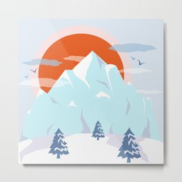Winter breeze in Alpes Metal Print