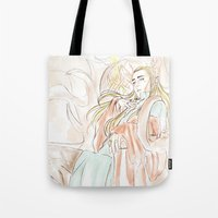 the hobbit Tote Bags featuring Thranduil_The Hobbit by JoySlash