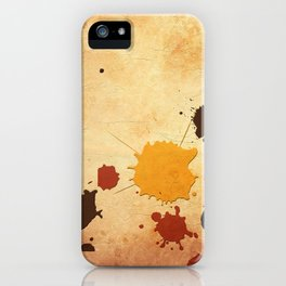 Abstract Indian Yellow Splash iPhone Case